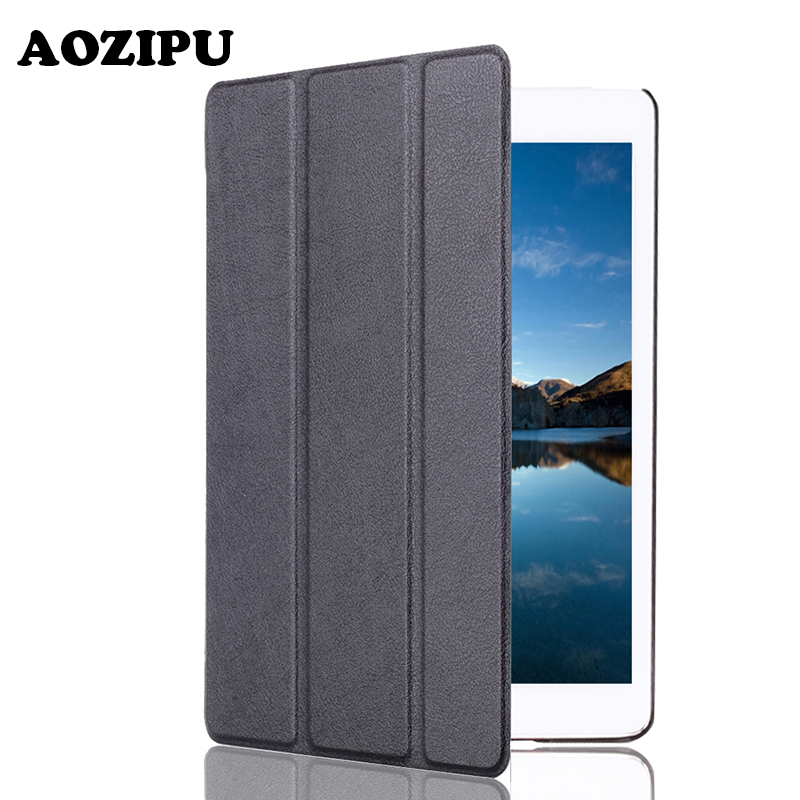 Cover for iPad 6 Air 2 Mini 4,for iPad 2017 New 9.7,for iPad Pro 9.7 Black Smart Magnet Stand PU Leather Case Black