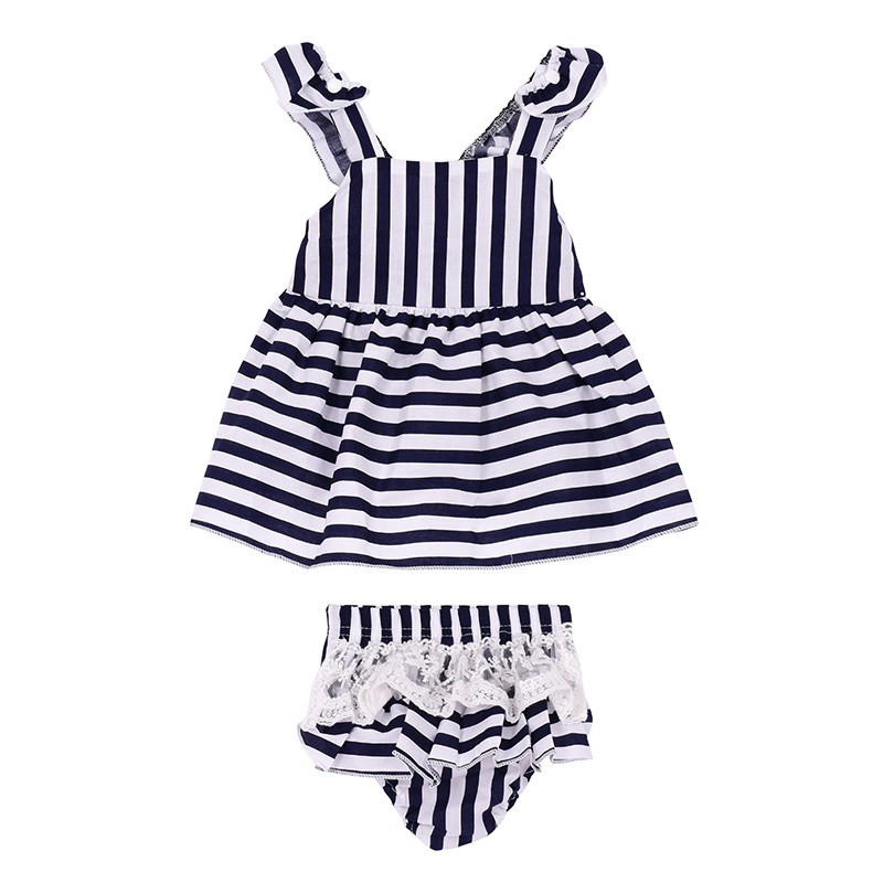 2017 Summer Dresses Childrens Dresses Princesses Children Dress Stripe Childrens Clothes Children Girl Dress Brand Girls Cloth