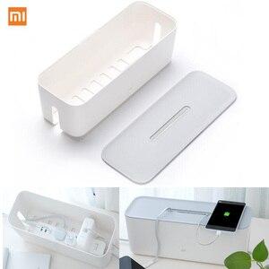 Image 1 - Oryginalny xiaomi Power schowek na przewód zasilający izolacja przeciwpyłowa chłodzenie otwór pasek wtyczka baza wykończenie wiązanie Box Home Storag Tools