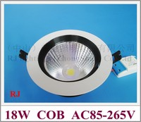 new style COB LED ceiling lamp light 18W LED downlight down light lamp AC85 265V 18W adjustable 3 year warranty free shipping
