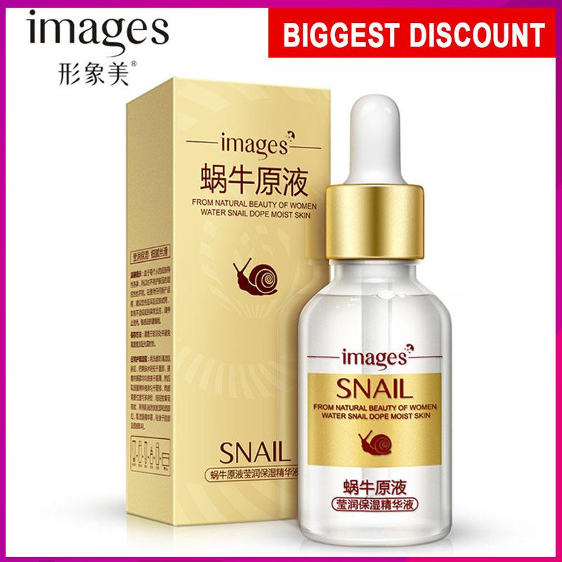 Images Snail Serum Anti Wrinkle Anti Aging Collagen Whitening Skin Repair Facial Care Acne Treatment Liquid Essence Face Cream