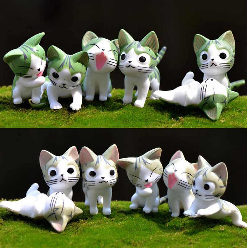 Мини кошка миниатюрная фигурка игрушки мультфильм Животные Статуя модели бонсай сад маленький орнамент пейзаж дом и сад украшения