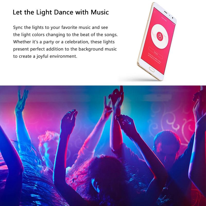 Xiaomi Yeelight Aurora Smart Light Strip Plus 2m LED RGB WiFi APP Xiaomi  Home Lights Work with Alexa Google Assistant Homekit