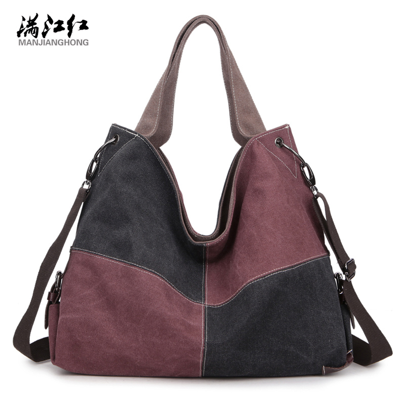 Manjinghong Women Canvas Hanbags High Quality Women Hand Bags Large Capacity Tote Casual HandBags Hot Selling Crossboday Bags