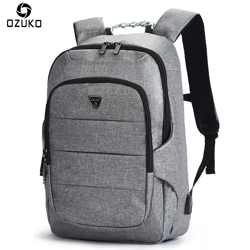 OZUKO New Business Mens Backpack Multifunction 15.6 Inch Laptop Backpack Male Waterproof Travel Mochila For Teenager School BagOZUKO New Business Mens Backpack Multifunction 15.6 Inch Laptop Backpack Male Waterproof Travel Mochila For Teenager School Bag