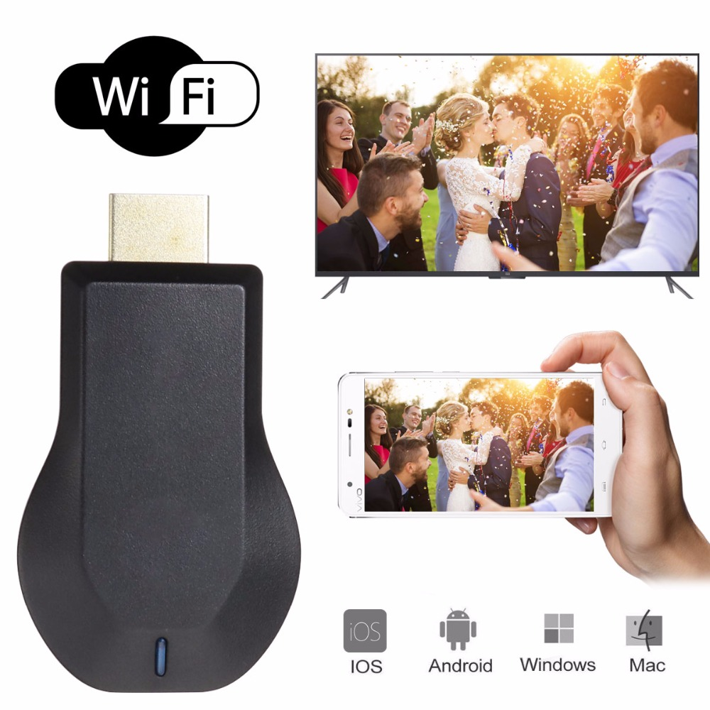 TOP New TV Stick Android Portable Full HD 1080P Receiver Airplay WiFi Display TV Dongle Wireless Connectivity HDMI Multi-display