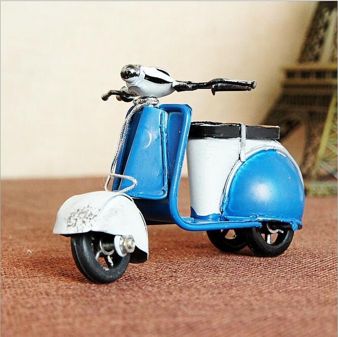 Retro dzelzs mini motocikls Romantisks dzimšanas dienas dāvanu - Mājas dekors - Foto 2