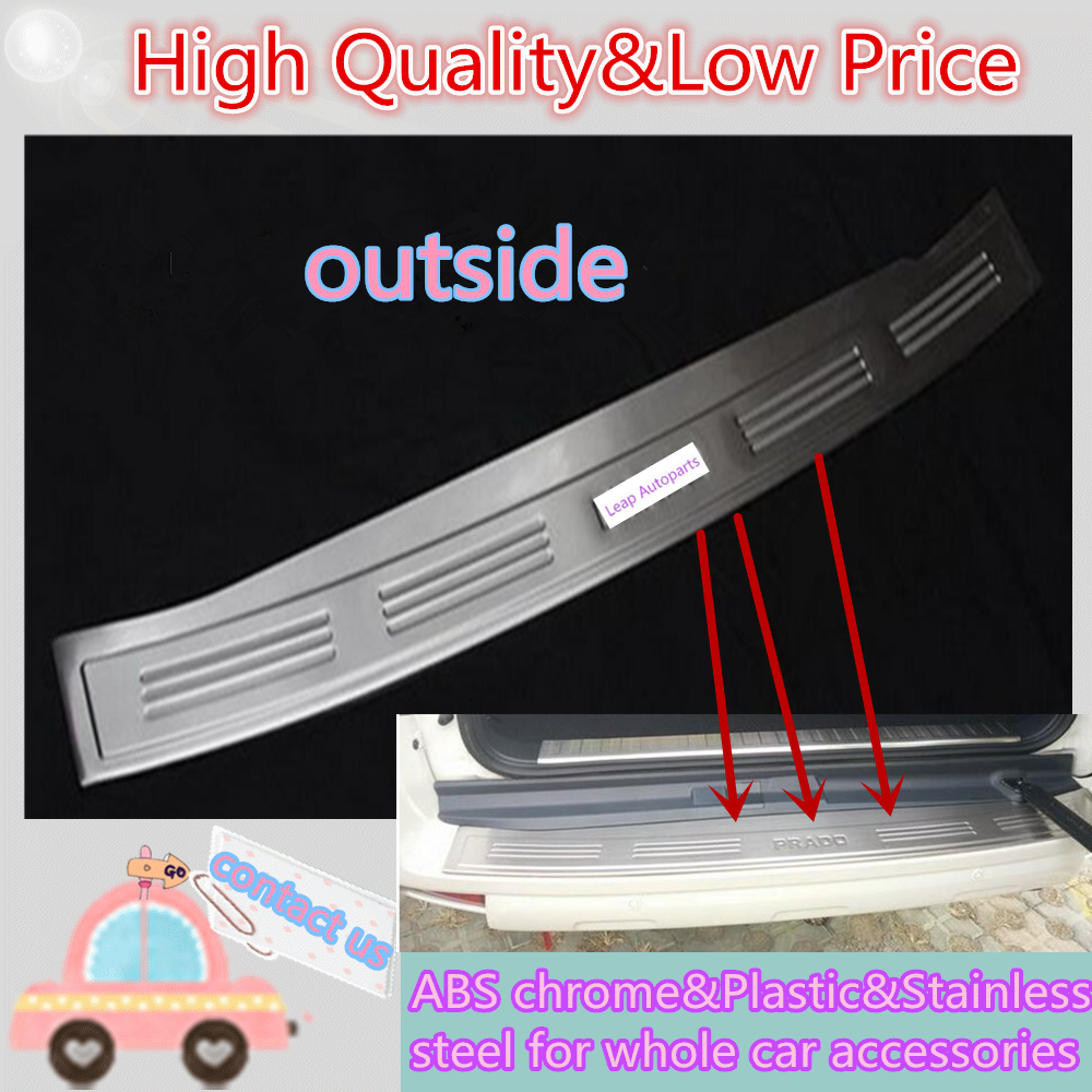 Top sale For Toyota Prado FJ150 2010 2011 2012 2013 Stainless Steel Rear Pedal Door Scuff Plate Frame External Threshold 1pcs car parts bumper protector guard skid plate for toyota prado fj150 2010 2011 2012 2013