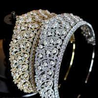 2019 di cristallo di lusso nuovo accessori per capelli da sposa sposa perla corona/accessori abito da sposa copricapo