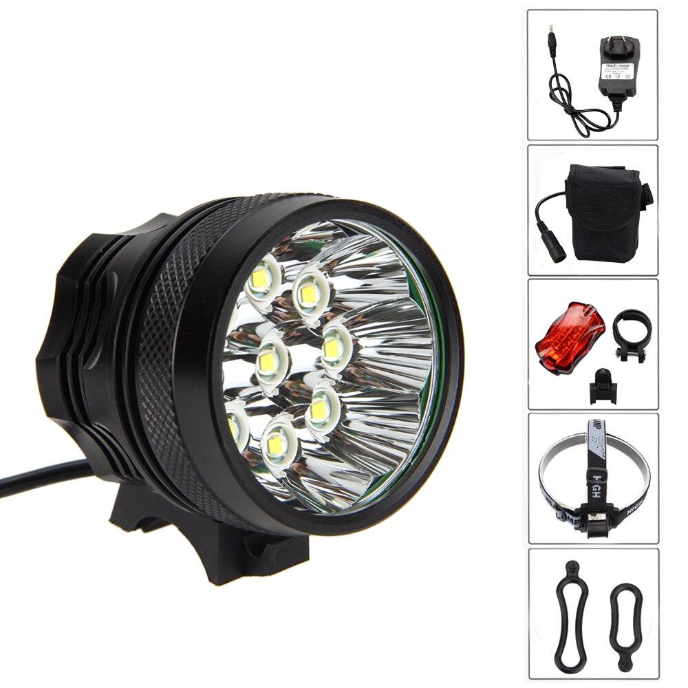 Waterproof LED Lamp 18000Lm 9x XML U2 Front Bike Light 3 Modes Headlamp Head Torch +12000mAh Battery Pack+Tail Light sitemap 451 xml page 9