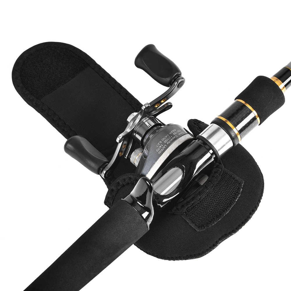 Lixada baitcasting الصيد بكرة حقيبة محمولة ل عجلة الغزل بكرة واقية حالة أسود اللون نايلون حالة التخزين ل بيكي