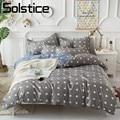 Solstice домашний текстиль серый лен Король Королева Полный Твин мальчик набор постельных принадлежностей для девочек квадратный узор пододея...