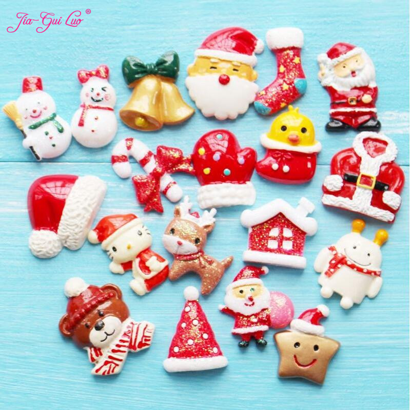 Jia-gui luo Special Offer Small Christmas Decoration Fridge Magnet Santa Magnet Message Magnet Cartoon Cute