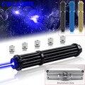 CWLASER Meest Krachtige Brandende Laser Militaire Laser 450nm Focusable Gatling Plus Blauwe Laser Pointer Met Luxe Case (3 Kleuren)