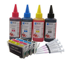 T0711 ink cartridge refill ink kit + 400ml ink for EPSON Stylus D78 D92 D120 DX4000 DX4050 DX4400 DX4450 DX5000 DX5050 printer(China)