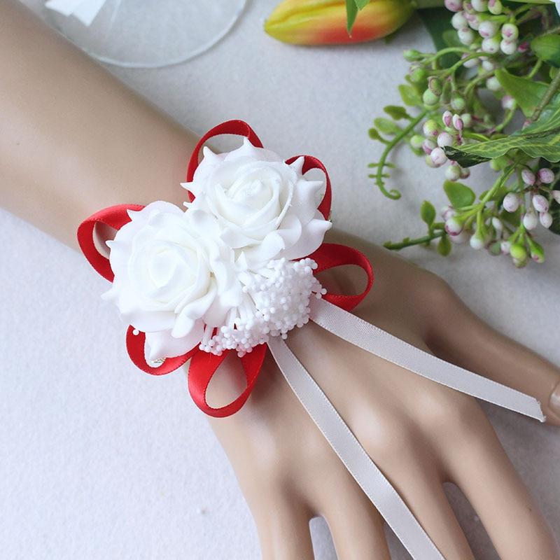 Wrist Flower Bridesmaid Hand Flowers wedding corsage  (8)