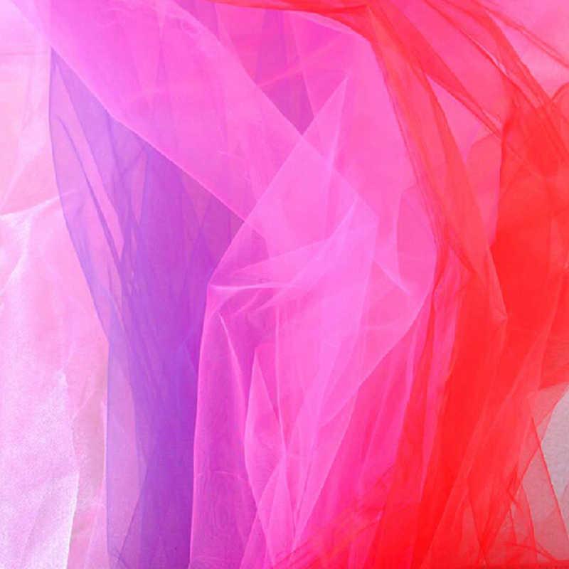 CHASANWAN 75 cm * 30 m Cristal Sheer Organza Tecido Rolo de Tule para Decoração de Festa de Casamento de Natal Aniversário Ano Novo decoração. L