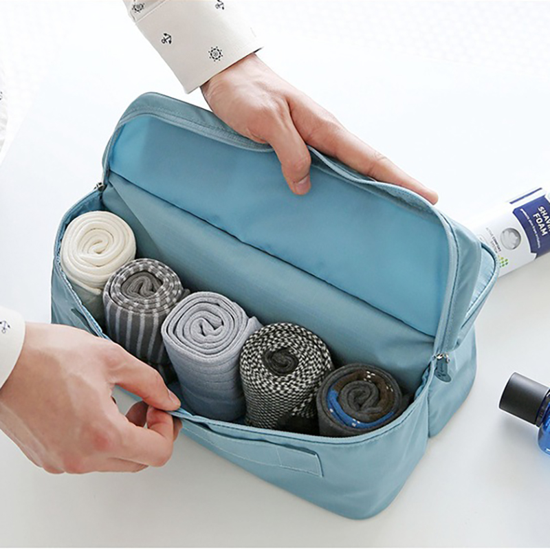 JUCESUPER Travel Underwear Storage Bags Portable Make Up Storage Bags Multi-Functional Sock Bra Organizers 6 Colors for Optional
