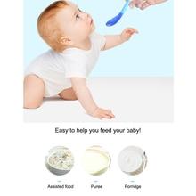 цена на Newborn Infant Baby Spoon Tableware Safety Temperature Sensing Baby Feeding Spoon Safety Tableware Infant Kids Learning Spoons