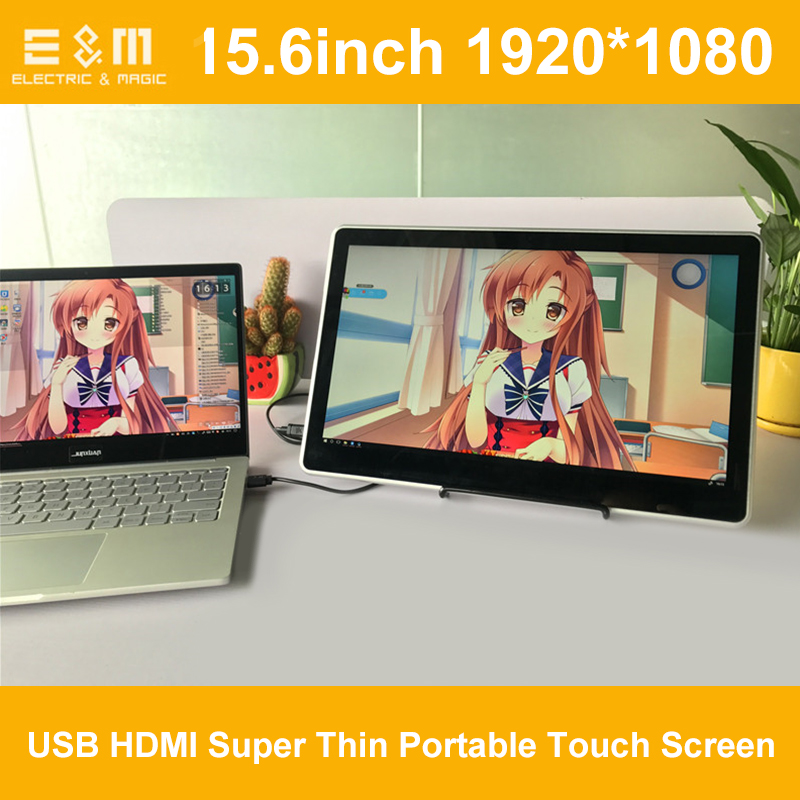 15.6 Inch 1920*1080P Type-c USB HDMI Super Thin Portable Touch Screen For PS4 XBOX MAC 60Hz HD LCD Touch Display For PC Laptop