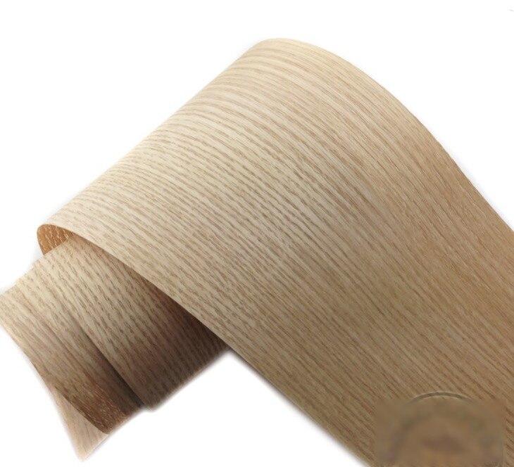 2Pieces/Lot  L:2.5Meters Wide:150mm  Thickness:0.25mm  Red Oak Bark Wood Veneer Wooden Furniture Leather Speaker