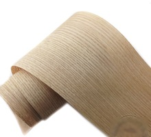 2 unids/lote L: 2,5 metros de ancho: 150mm de espesor: 0,25mm chapa de madera de corteza de roble rojo muebles de madera altavoz de cuero