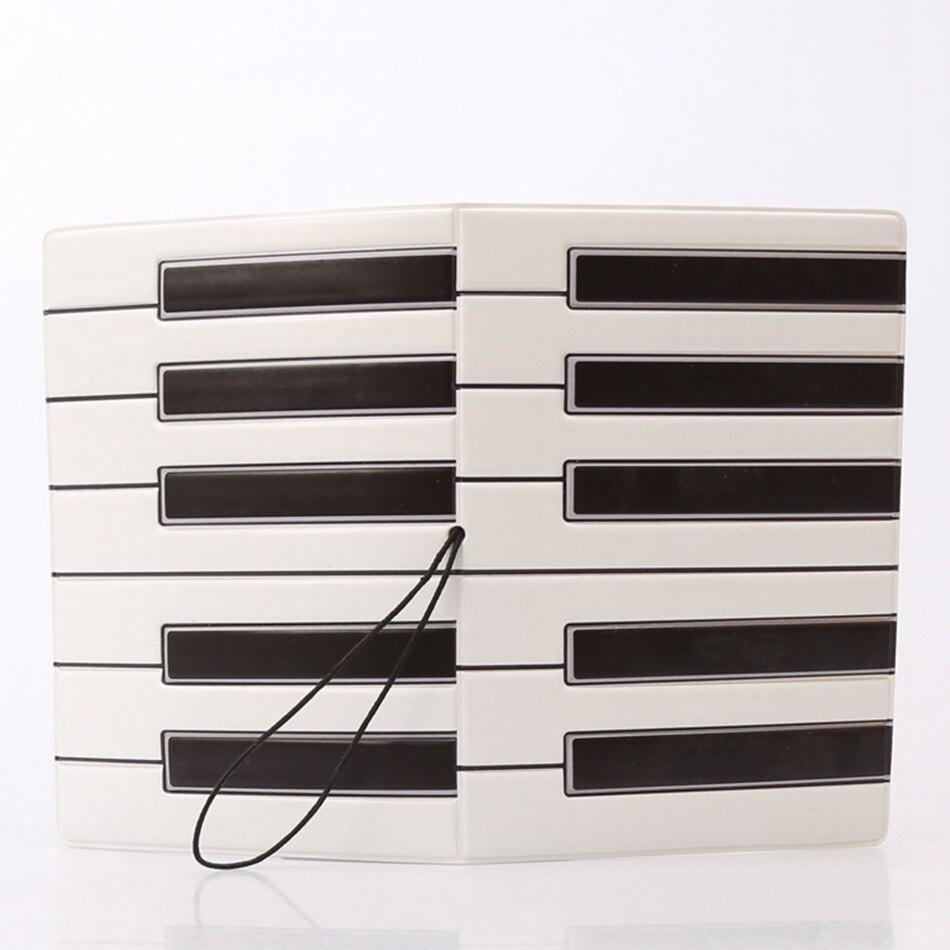 Туристические товары 3D Творческий Пианино паспорт Чехлы для мангала искусственная кожа ID банковская карта мешок Для женщин паспорт Бизнес ...