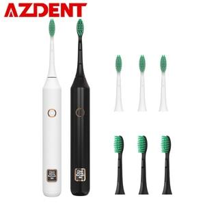 Image 1 - חדש חם 3 מצב LCD חשמלי מברשת שיניים USB נטענת אינטליגנטי קולי סוניק מברשת שיניים עם חכם טיימר שיניים הלבנת