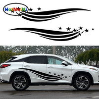 2 X רומנטי HotMeiNi כיף לילה נושבת רוח כוכבים רבים פנאי רכב מדבקה לרכב שטח ואן רכב סטיילינג ויניל מדבקות 10 צבעים
