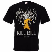 купить Kill Bill Vol 1 by Quentin Tarantino Uma Thurman Black Mamba movie t-shirt S-3XL Fashion T shirt Hipster Cool Tops по цене 849.31 рублей