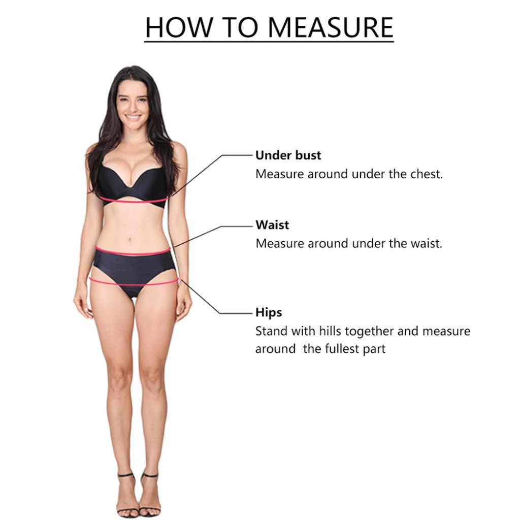 مثير النساء ملابس السباحة عالية الخصر ملابس السباحة المرأة المطبوعة ملابس السباحة الرافعات معقود الأمامي والخلفي اثنين قطعة الشاطئ ملابس السباحة # C