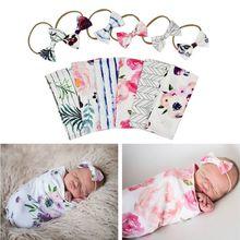 Пеленка для новорожденных с рисунком; пеленка для сна для новорожденных мальчиков и девочек; муслиновая накидка+ повязка на голову; 2 шт