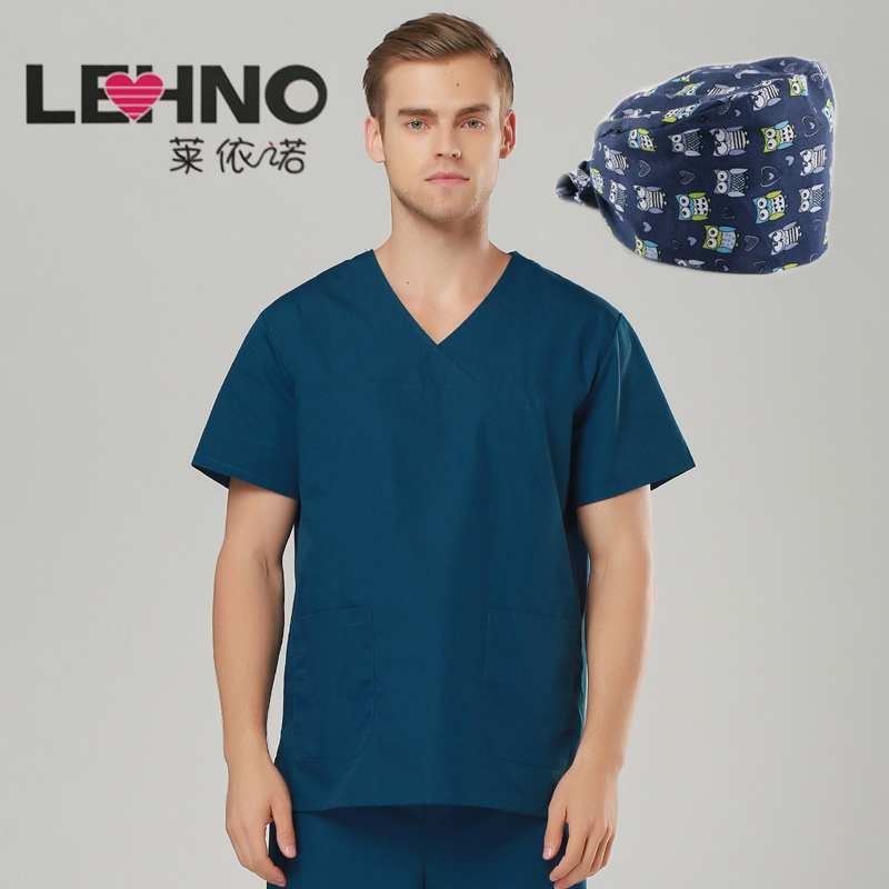 Mærker Emergency Room Medical Clothing Uniforms Cotton Scrub Tøj Mandlige lægeuniformer 3 stk dragter