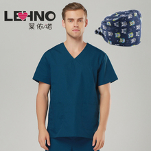 Brands Emergency Room Clothing Cotton Medical Shirts scrub sets female &male scrubs medical uniform clothing