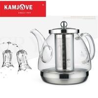 Kamjove panela de indução panela especial ferver chá dedicado panela de vidro forro aço inoxidável chaleira vaso de flores