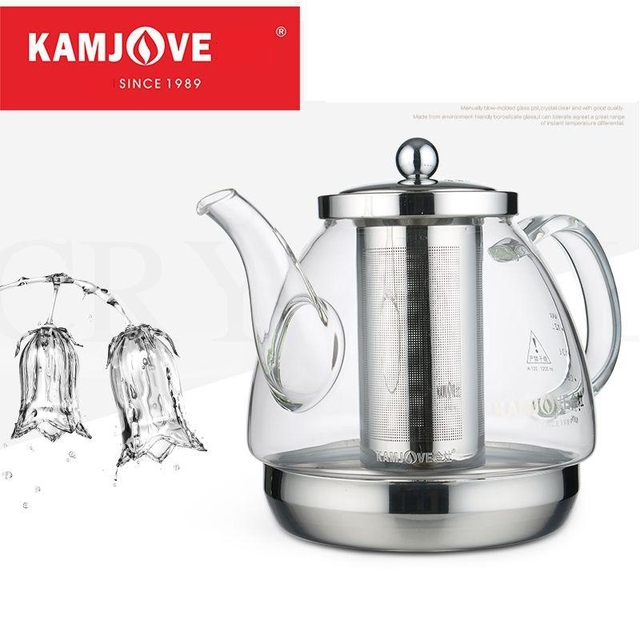 free shipping Induction cooker special pot boil tea  dedicated cooker glass pot stainless steel liner kettle flower pot