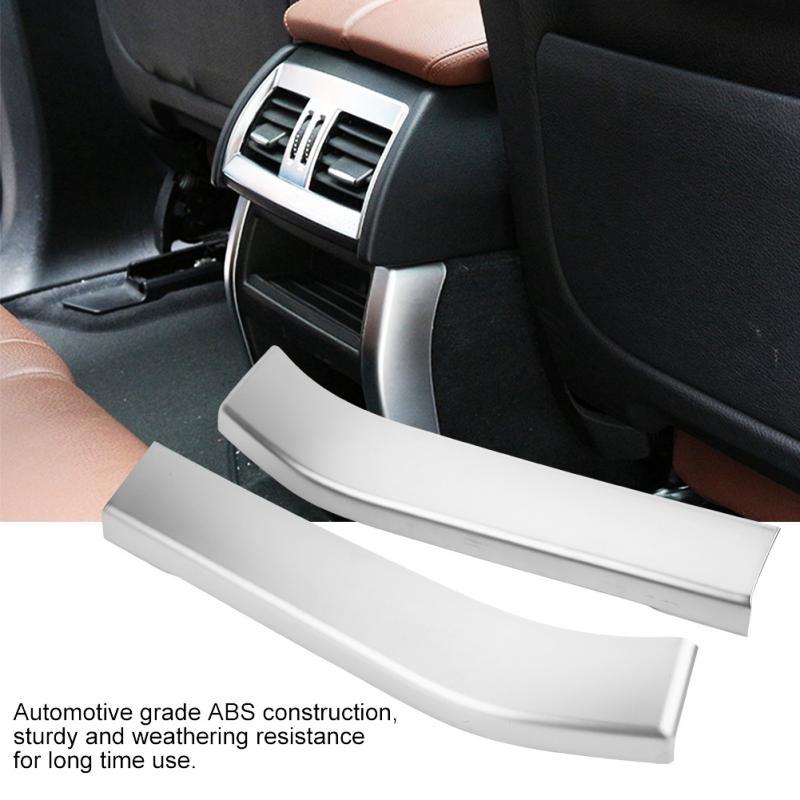 2PCS Car Interior Rear Air Outlet Cover Trim Sticker For X5 X6 F15 F16 14-18