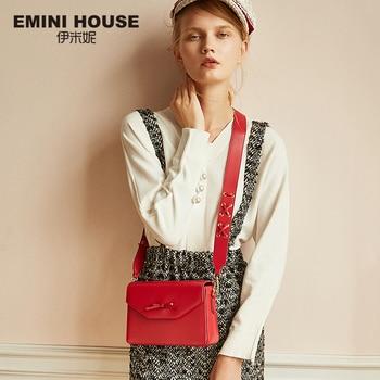 EMINI HOUSE Bow-Knot Crossbody Bags For Women Luxury Handbags Women Bags Designer Split Leather Shoulder Bag Shoulder Bags