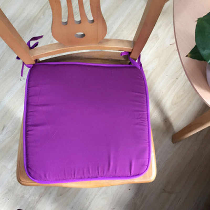 2019 New Arrive Soft Seat Pad Patio Solid Colorful Garden Square Indoor Dining Tie on Office Chair Foam Cushions 40x40cm
