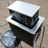Customized motorized led switch lifting hidden socket