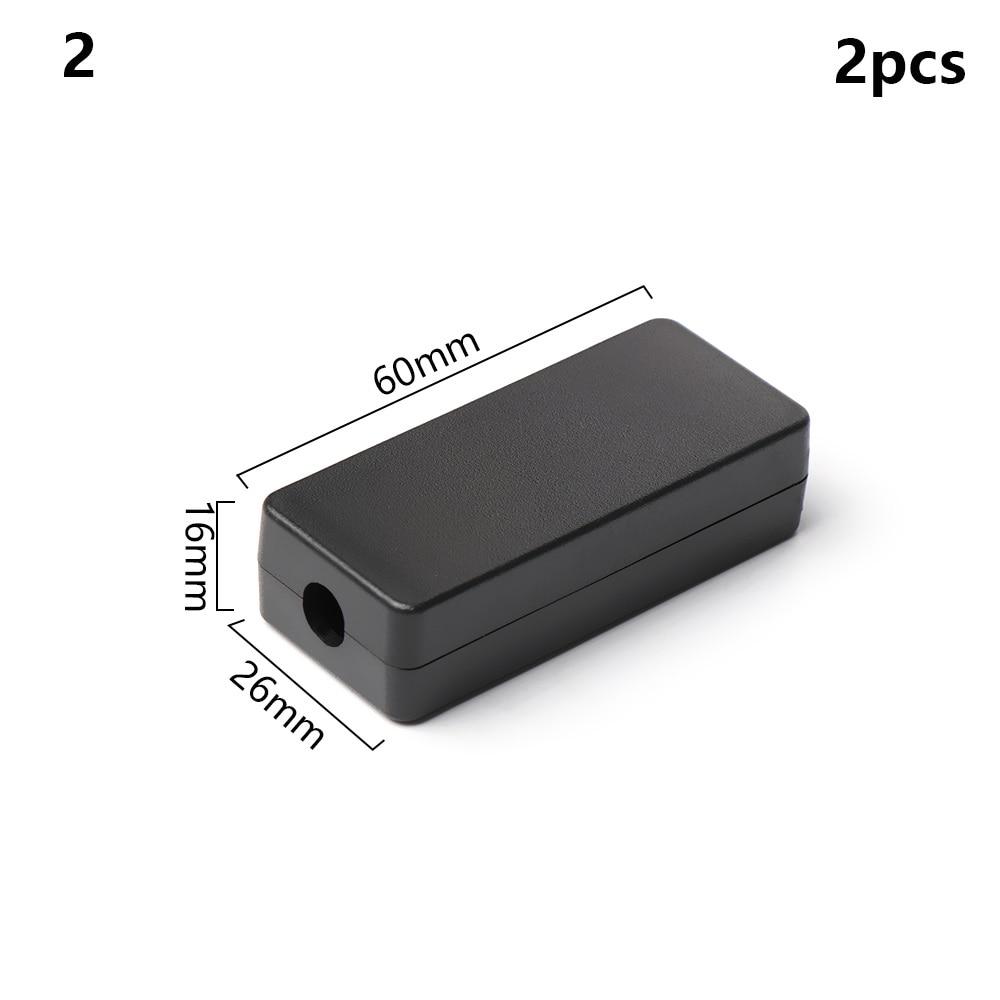 2 шт. водонепроницаемый черный DIY корпус чехол для инструментов ABS пластик проект коробка чехол для хранения корпус коробки электронные принадлежности - Цвет: 2pcs Style 2
