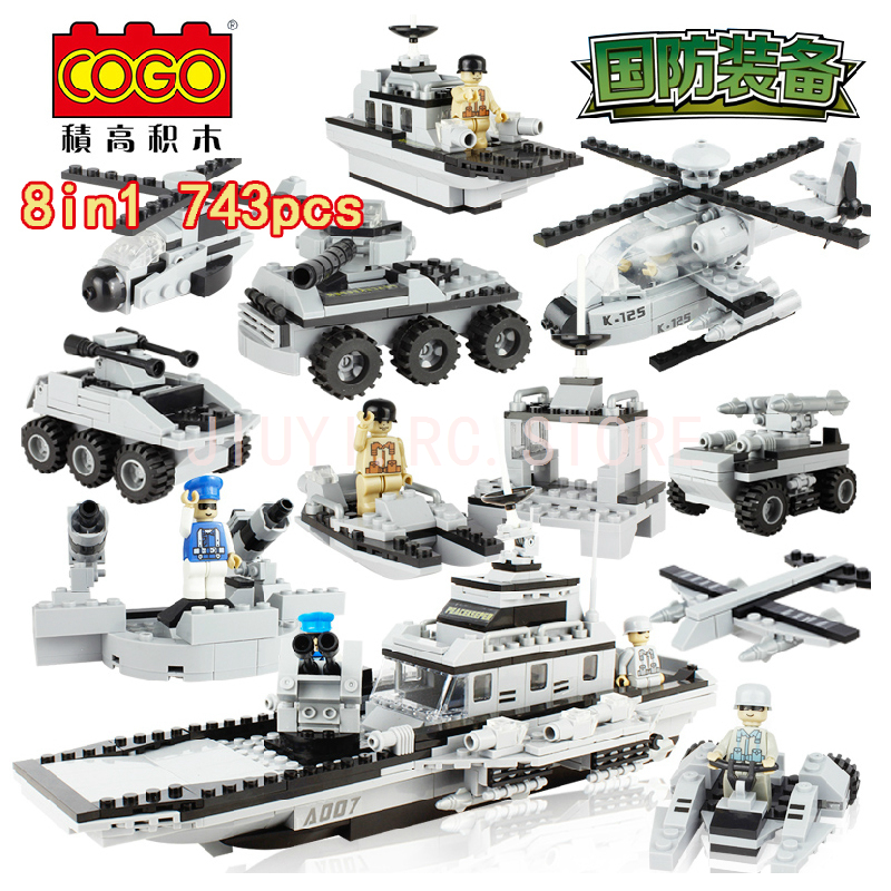 Здесь продается  Compatible Legos Military Serise Aircraft Helicopter Tank Warship Chariots Fighting Vehicle Building Blocks Boys Gift COGO3007  Игрушки и Хобби