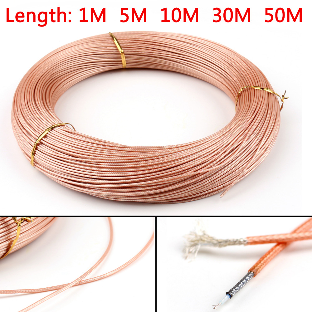 Areyourshop RG178 RF Coaxial Cable Connector 50ohm M17 M93-RG178 Coax Pigtail 1m 5m 10m 30m 50m Best Selling Wires Cable