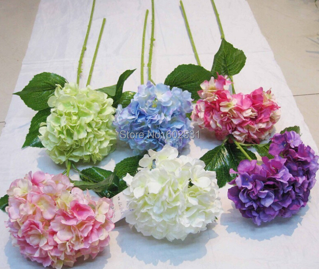 Free shipping 6color single large hydrangea artificial flowers free shipping 6color single large hydrangea artificial flowers wedding decoration silk flowers table centerpiece mightylinksfo