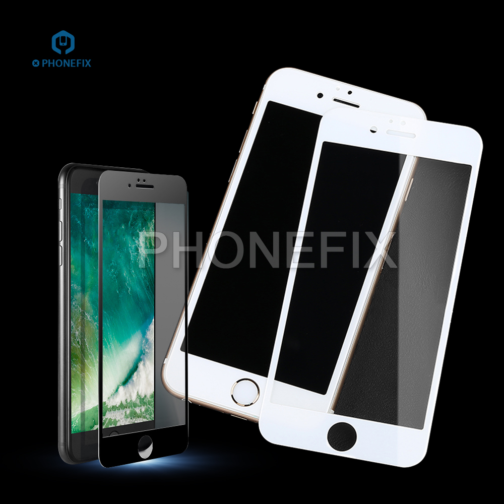 PHONEFIX High Transmittance Film Protector 3D Curved Tempered Glass For IPhone 6 6S 7 8 8Plus LCD Screen Repair Protector