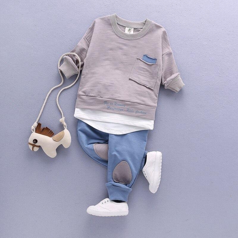 55133ce98 2018 conjunto de ropa para niños conjuntos de bebé niños otoño niño traje  deportivo Conjunto 1-T 4 t niños niñas conjunto ropa de niño