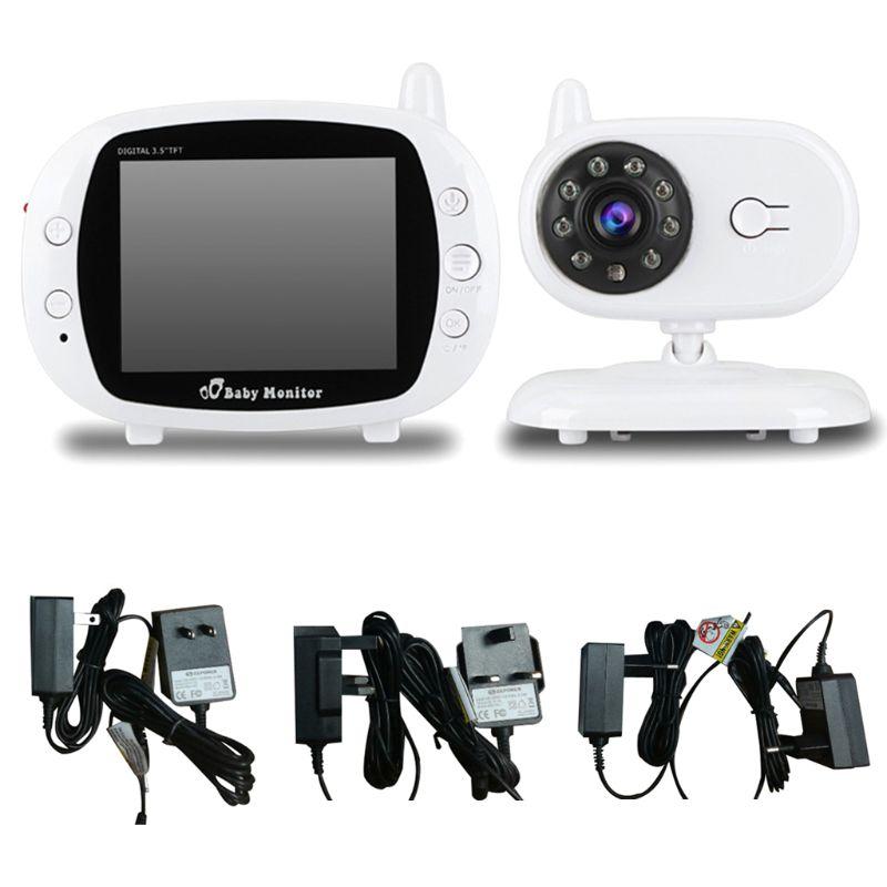 Bébé dormir moniteurs caméra sans fil récepteur bidirectionnel interphone Surveillance lecteur de musique 3.5
