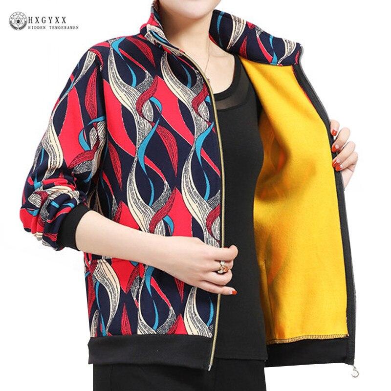 Bomber Baseball   Jacket   Women Autumn Zipper   Basic   Coat Fashion Long Sleeve Velvet Print   Jackets   Casual Plus Size Outwear B223