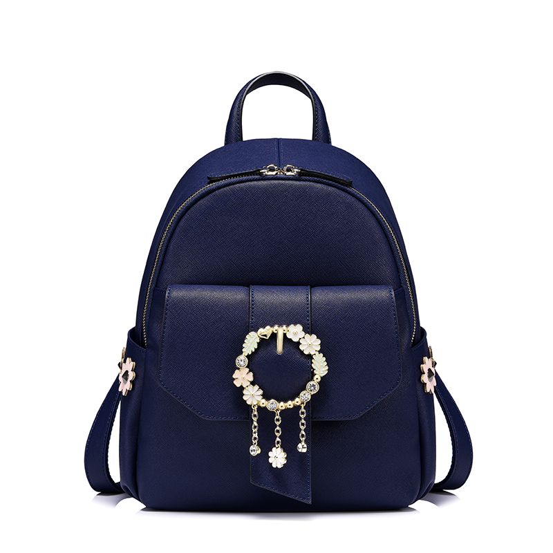 Luxury Brand Fashion Designer Jewelry Flower Purse Shoulder Women Backpack School Bags For Teenager Girls Female Travel BackPack luxury brand fashion designer jewelry flower purse shoulder women backpack school bags for teenager girls female travel backpack