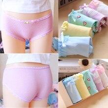 2017 Hot Sale Real Gas Tanga Panties 5pcs/lot Underwear Women Lovely Girl 100%cotton Low Waist Ms. Briefs Gift Box Underpants